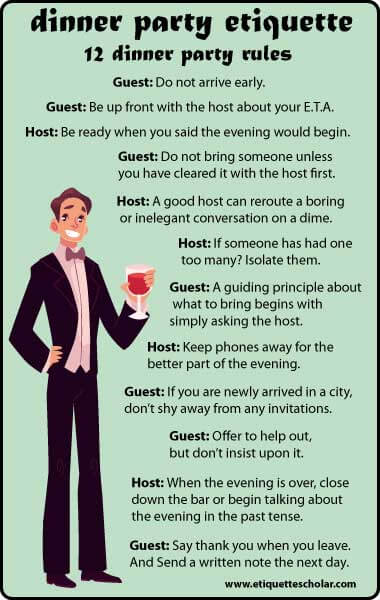 Dinner party etiquette 12 dinner party etiquette rules stopboris Gallery