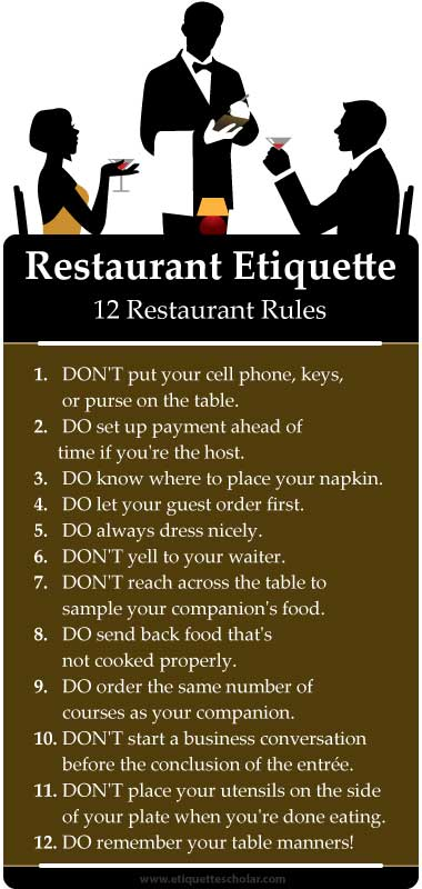 12 Restaurant Dos and Don'ts