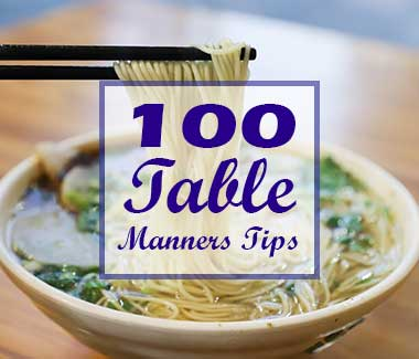 10 table manners tips