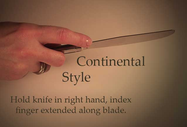 How To Hold A Fork Utensil Etiquette Continental V