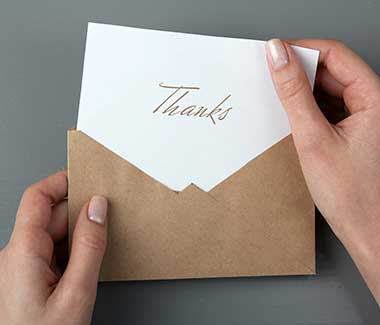 graduation gift thank you note etiquette