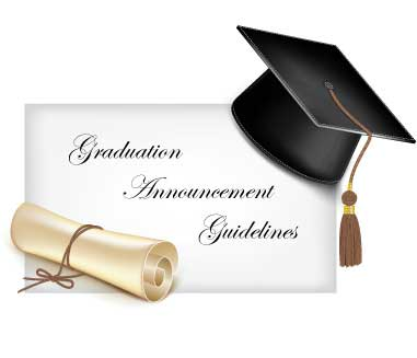 graduation announcement etiquette